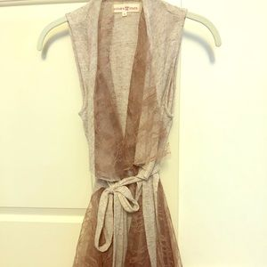 Altar'd State Romantic Lace Open Vest Wrap